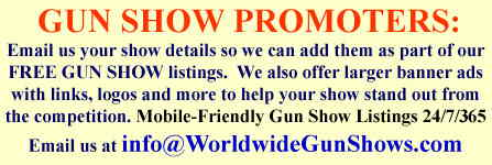 Free Gun Show Listings at worldwidegunshows.com
